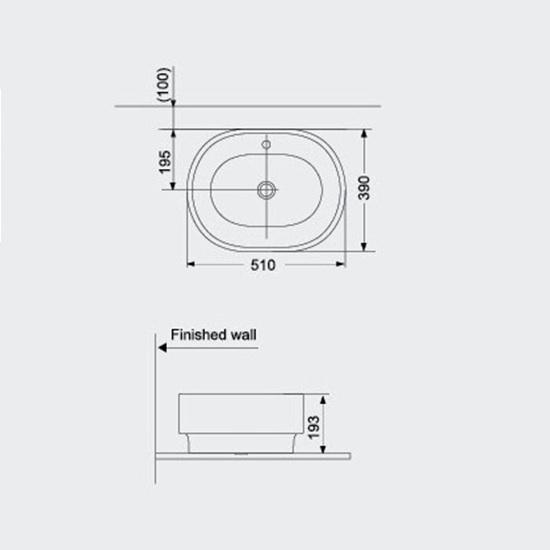 Porta Sanitary Ware - HDA025 Art Vanity Washbasin