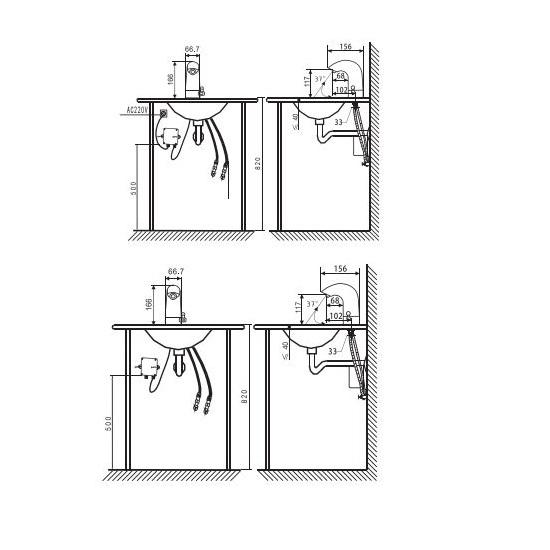 Porta Sanitary Ware - HDE515 Basin Mixer with Sensor