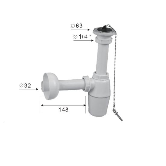 Porta Sanitary Ware - ABS1 Bottle Trap