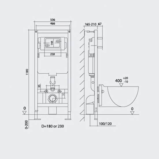 Concealed Cistern Hdg3004a
