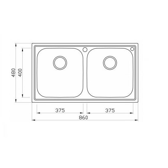 Porta Sanitary Ware - HDSC8868 Double Bowl Sink