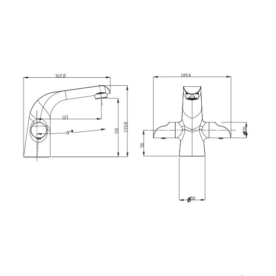 Porta Sanitary Ware - HDA3581M Double Knob Basin Mixer