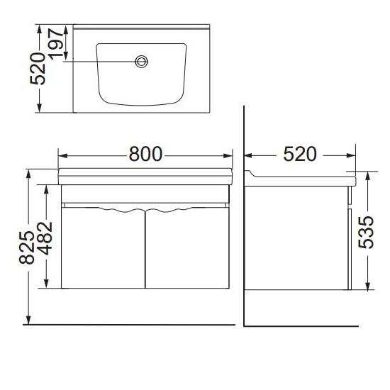 Porta Sanitary Ware - HDFL053 PVC Cabinet