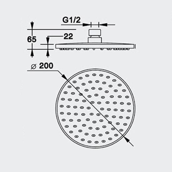 Porta Sanitary Ware - 1014-H Round Shower Head