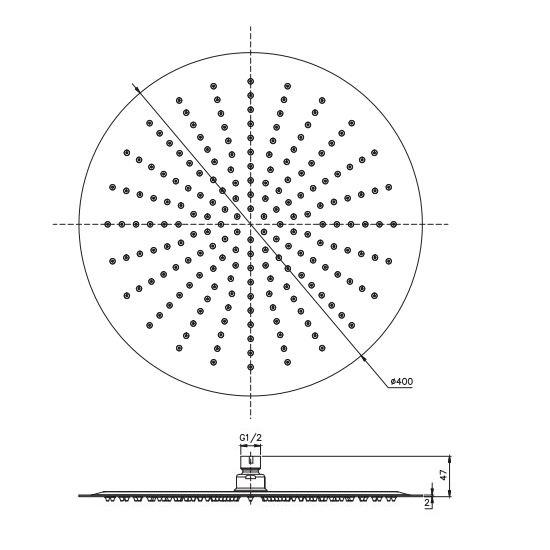Porta Sanitary Ware - SRP161 Shower Head