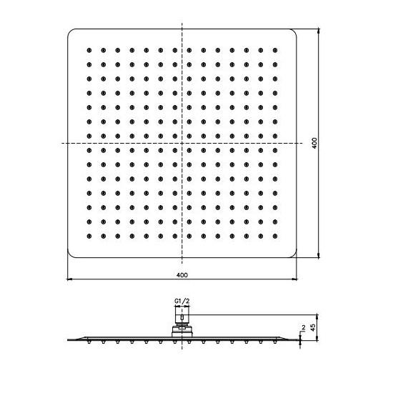 Porta Sanitary Ware - SSQ162 Shower Head