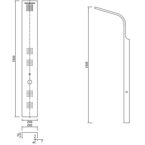 Porta Sanitary Ware - LZ17 Shower Panel