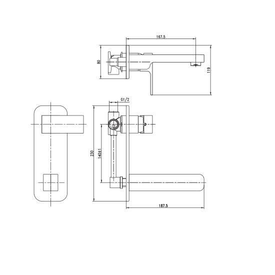 Porta Sanitary Ware - HDA181-WMM Single Lever Basin Mixer