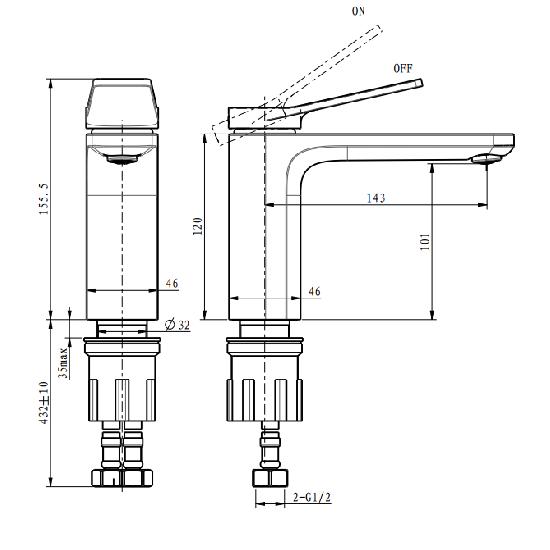 Porta Sanitary Ware - HDA701M Single Lever Basin Mixer