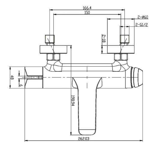 Porta Sanitary Ware - HDA293Y Single Lever Bath Mixer