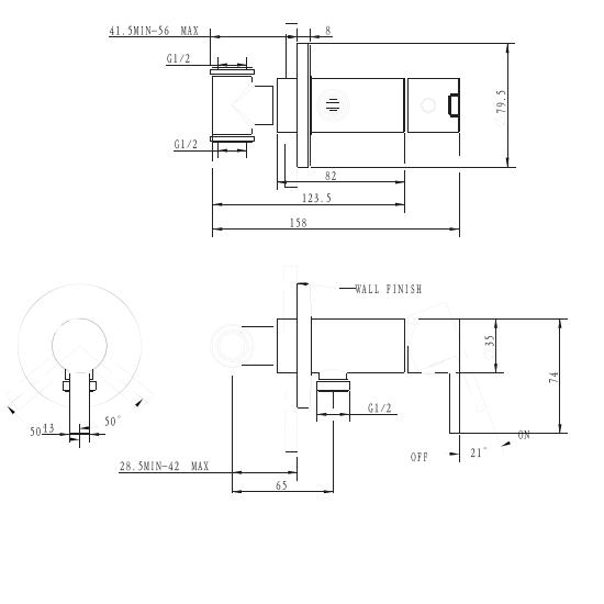 Porta Sanitary Ware - HDA3567LR Single Lever Conceal Mixer