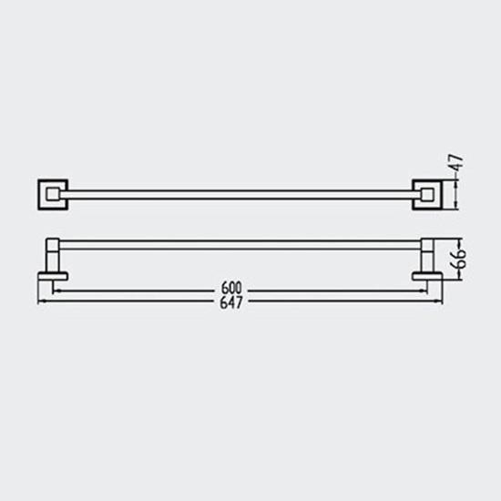 Porta Sanitary Ware - JM11 Single Towel Holder