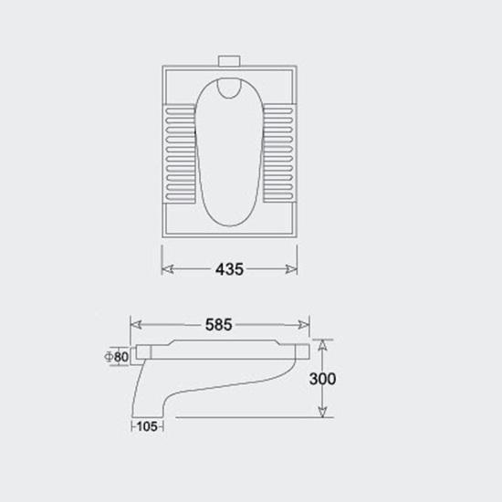 Porta Sanitary Ware - HD70 Squatting Pan