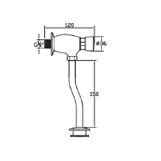 Porta Sanitary Ware - HDK822 Urinal Valve