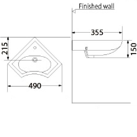 Porta Sanitary Ware - HD1 Washbasin Pedestal