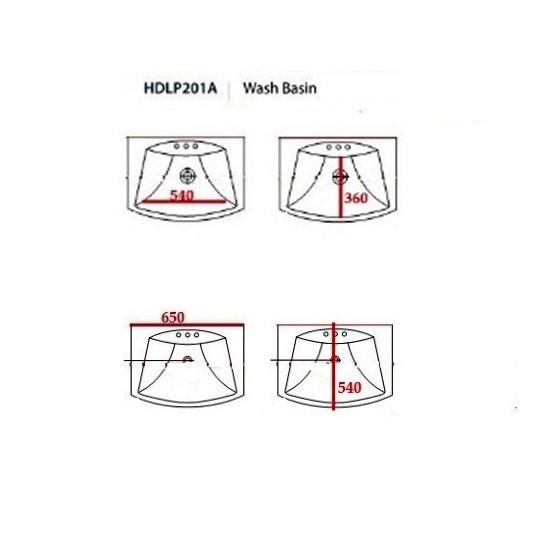 Porta Sanitary Ware - HDLP201AH Washbasin Pedestal
