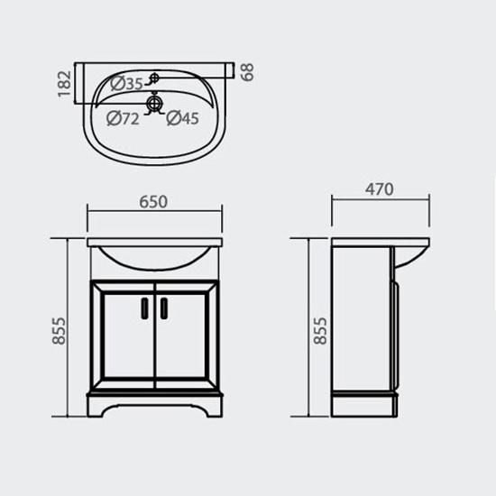 Porta Sanitary Ware - HDFL001 Wooden Cabinet